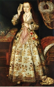Elizabeth Vernon, Countess of Southampton, 1595-1600. Unknown Artist. Boughton House