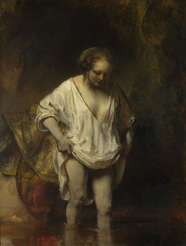 Woman Bathing - Rembrandt