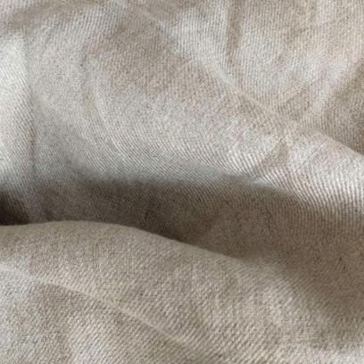 Twill-weave natural linen